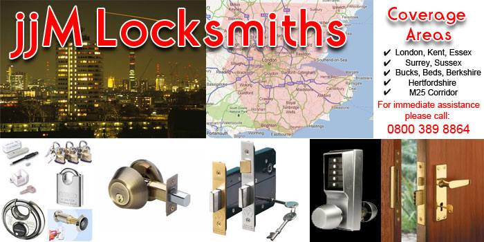 jjm locksmiths coverage areas
